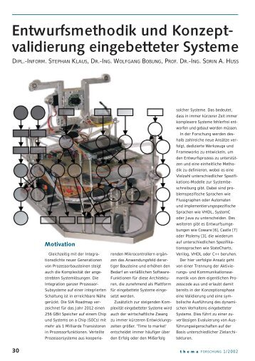 Editorial/Inhalt 1/2002 - Integrated Circuits and Systems Lab