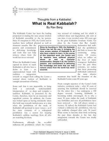 What is Real Kabbalah?