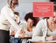 reforming teacher accountability through development and evaluation