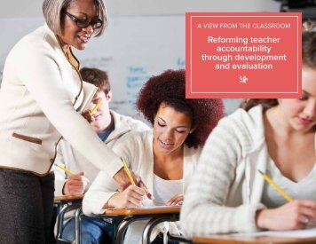 reforming teacher accountability through development and evaluation