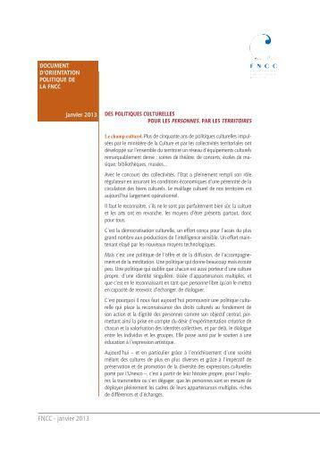 FNCC - janvier 2013