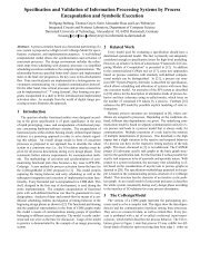 Specification and Validation of Information Processing Systems by ...