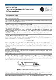 Technische Grundlagen der Informatik I 3. Poolraumübung