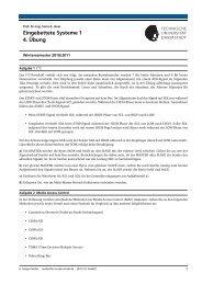 Eingebettete Systeme 1 4. Übung