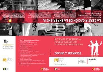Cocina y Servicios - Gobierno de Aragón