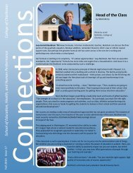 Connections Newsletter 2010 - School of Education, Health, and ...