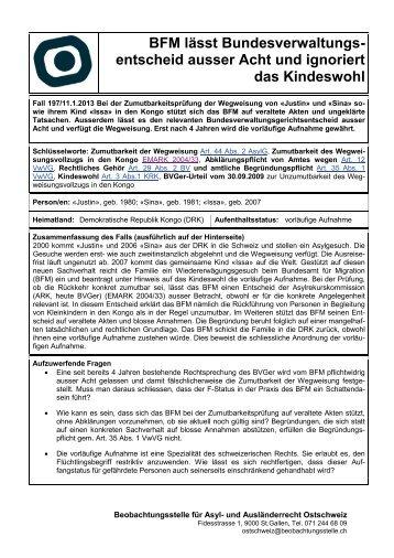weiterlesen - Beobachtungsstelle für Asyl- und Ausländerrecht ...