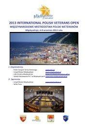 komunikat organizacyjny - PZTS - Polski Związek Tenisa Stołowego