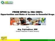 FROM DPHO to INA CBG's - Manajemen Rumah Sakit PKMK UGM