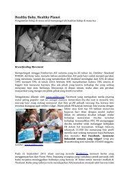 Healthy Baby, Healthy Planet - Manajemen Rumah Sakit PKMK UGM