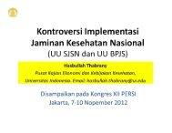 Kontroversi Implementasi Jaminan Kesehatan Nasional (UU SJSN ...
