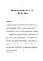Education and societal change in the global age 1 - Åbo Akademi