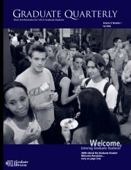 Graduate Quarterly - Fall 2002 - UCLA Graduate Division