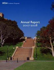 Annual Report 2007-2008 - UCLA Graduate Division
