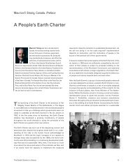 Maurice F. Strong - Earth Charter Initiative