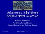Adventures in Building a Graphic Novels Collection - IUPUI ...