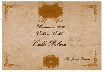 Padrón 1870 Calle Palma