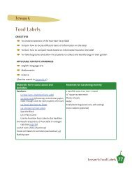 Food Labels - UC Davis Center for Nutrition in Schools