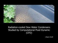 Radiation-cooled Dew Water Condensers studied by CFD - Arcofluid