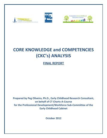 Core Knowledge And Competencies Connecticut Early
