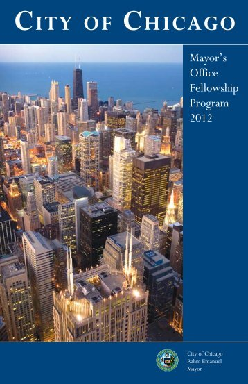 City of Chicago 2012 Mayor's Office Fellowship Brochure.pdf