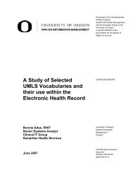 A Study of Selected UMLS Vocabularies and their use ... - Scholars