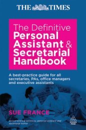 The Definitive Personal Assistant and Secretarial Handbook: A Best ...