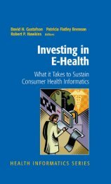 Investing in E-health : What It Takes to Sustain Consumer Health ...