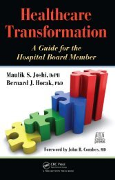 Healthcare Transformation A Guide for the Hospital Board Member ...