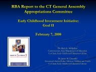 Goal II - Connecticut Early Childhood Education Cabinet
