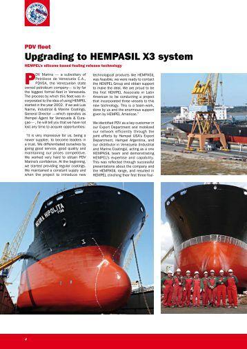 Upgrading to HEMPASIL X3 system - Industrial & Marine Coatings ...