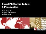 Cloud Platforms Today: A Perspective - David Chappell
