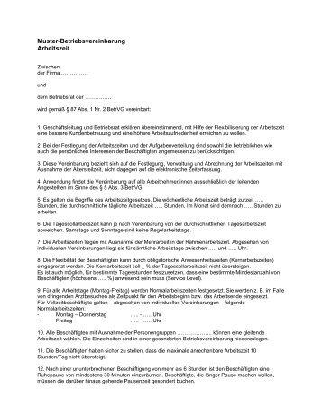 Muster Für Vereinbarungen Zur Verringerung Neuverteilung Der