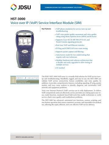 HST-3000 Voice over IP (VoIP) Service Interface Module ... - EN4TEL