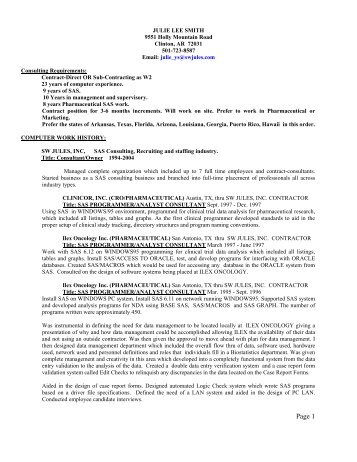 ascii text resume example