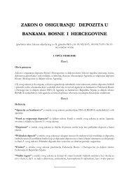 Zakon o osiguranju depozita u bankama BiH
