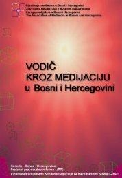 Stručna publikacija: Vodic kroz medijaciju u Bosni i Hercegovini