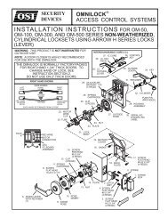 INSTALLATION INSTRUCTIONS FOR OM-50, - OSI Security Devices