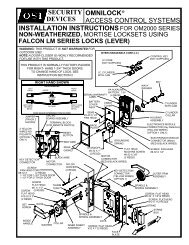 omnilock access control systems installation instructions