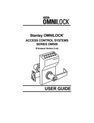 Stanley Omnilock Access Control Systems Series OM500 User Guide