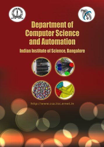Department of Computer Science and Automation Department of ...