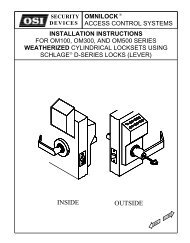 INSIDE OUTSIDE - OSI Security Devices