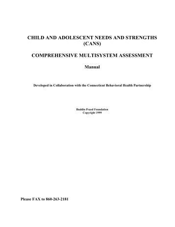 child and adolescent needs and strengths - Connecticut Behavioral ...