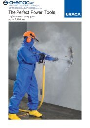 High Pressure Spray Guns Up to 2800 bar - Chemac Inc.