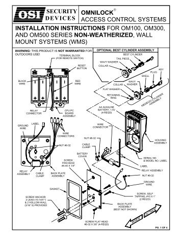 Stanley Wams User Guide