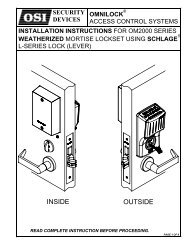 schlage - OSI Security Devices