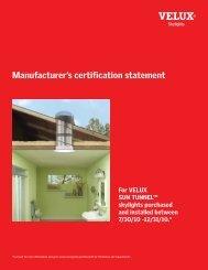 3531-1210_ManufactCertST - Velux