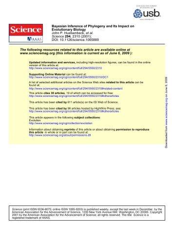 DOI: 10.1126/science.1065889 , 2310 (2001); 294 Science et al ...