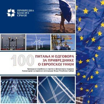 100питања и одговора за привреднике о европској унији