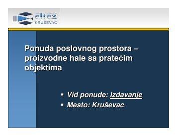 Lokacija 15 - Regionalna privredna komora Kruševac